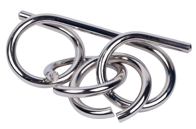Large Size IQ Metal Wire Puzzle Mind Brain Teaser Ring