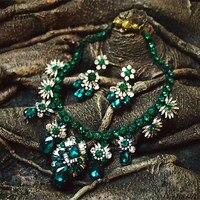 2015 مذهب ساحر أوز الشروق الباروك أزياء الشرير نمط قلادة مجموعات المجوهرات النساء الاكسسوارات هدية عيد بالجملة
