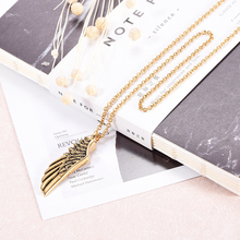 Wing Shape Necklace Pendant gold steel Color Stainless Steel Ashes Wholesale and Retail