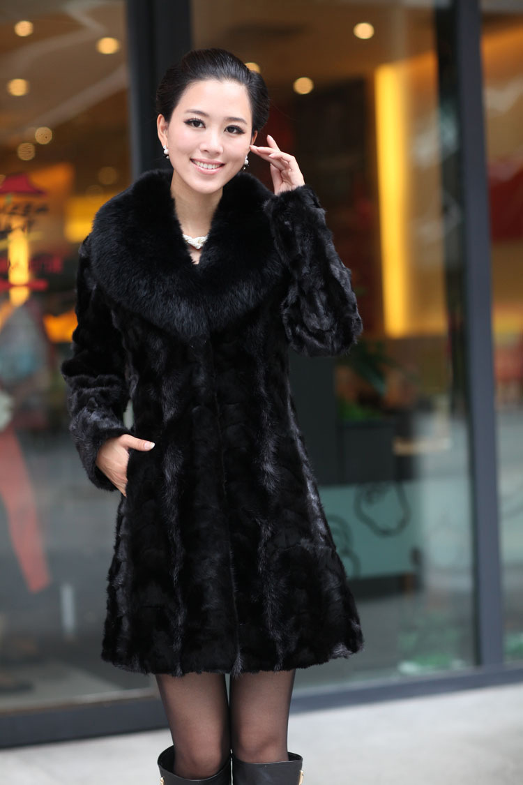 faux fur coat lady high imitation fur coat jacket female wool mink long hair overcoat faux mink fur collar overcoat fur coats contrast faux fur collar ripped detail jacket