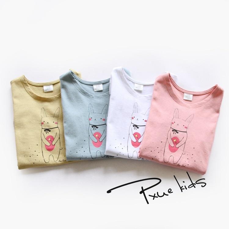 Hot 2016 niños camisetas de verano ropa de las muchachas de algodón - Ropa de ninos