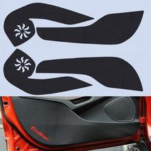 4pcs Car Door Side Edge Anti kick Protection Film Carbon Fiber Sticker For Ford Ecosport