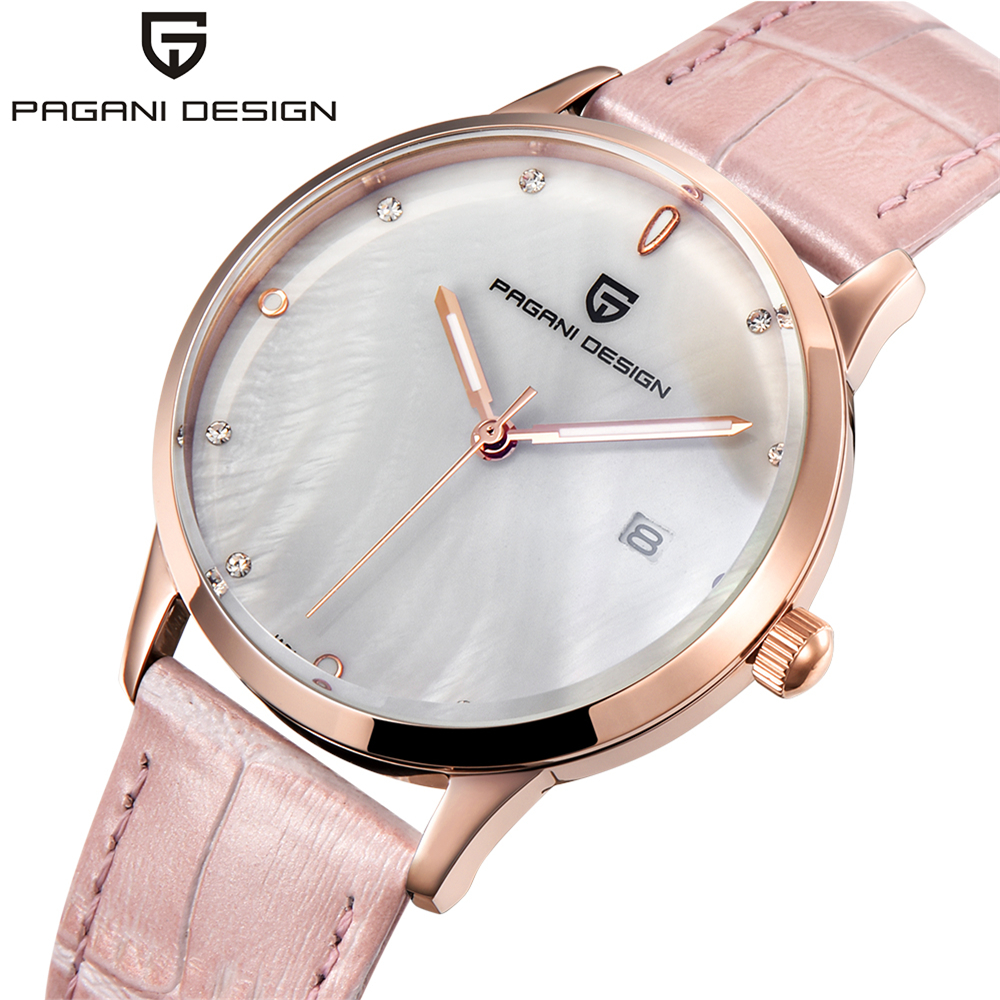 PAGANI DESIGN Brand Lady Fashion Quartz Watch Women Waterproof 30M Shell Dial Luxury Dress Watches Relogio Feminino Xfcs