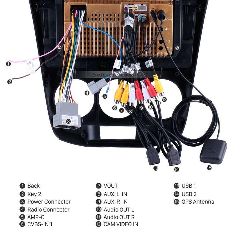 Seicane 10,1 дюймов 2Din Android 8,1/7,1 Quad-Core автомобильный радиоприемник GPS; Мультимедийный проигрыватель для 2011 2012 2013 2014 2015 2016 Honda CITY