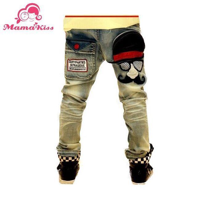 Бесплатная доставка новый 2016 джинсы для мальчика детская мода Stlye джинсы детей темно-синий цвет мальчиков джинсы штаны B031