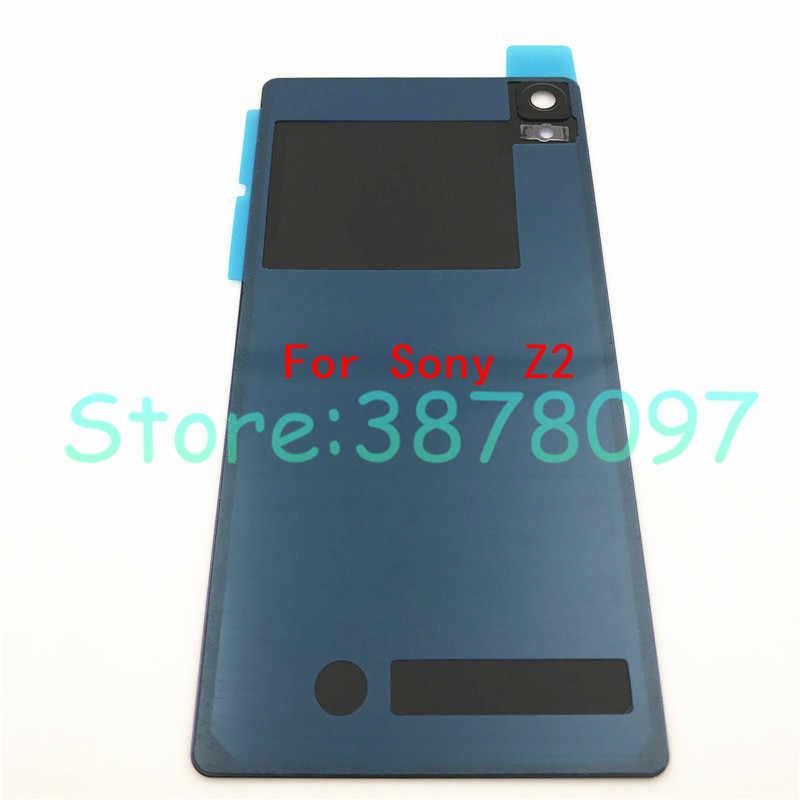 Couvercle de remplacement en verre de boîtier arrière de batterie de porte arrière pour Sony Xperia Z1 Z2 Z3 avec Logo