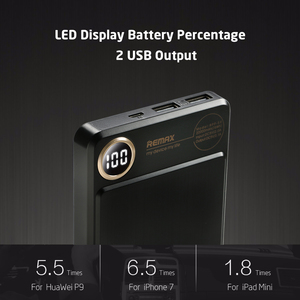 Image 4 - Remax RPP 59 20000mAh Power bank Dual USB Polymer battery External Battery Charger Mobile Phone Portable Fast Charging Powerbank
