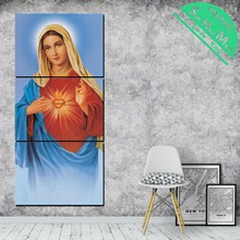 5 Pieces Blessed Virgin Mary Christian Tradition HD Printed Canvas Painting  with Pictures Decoration for Living Room Poster