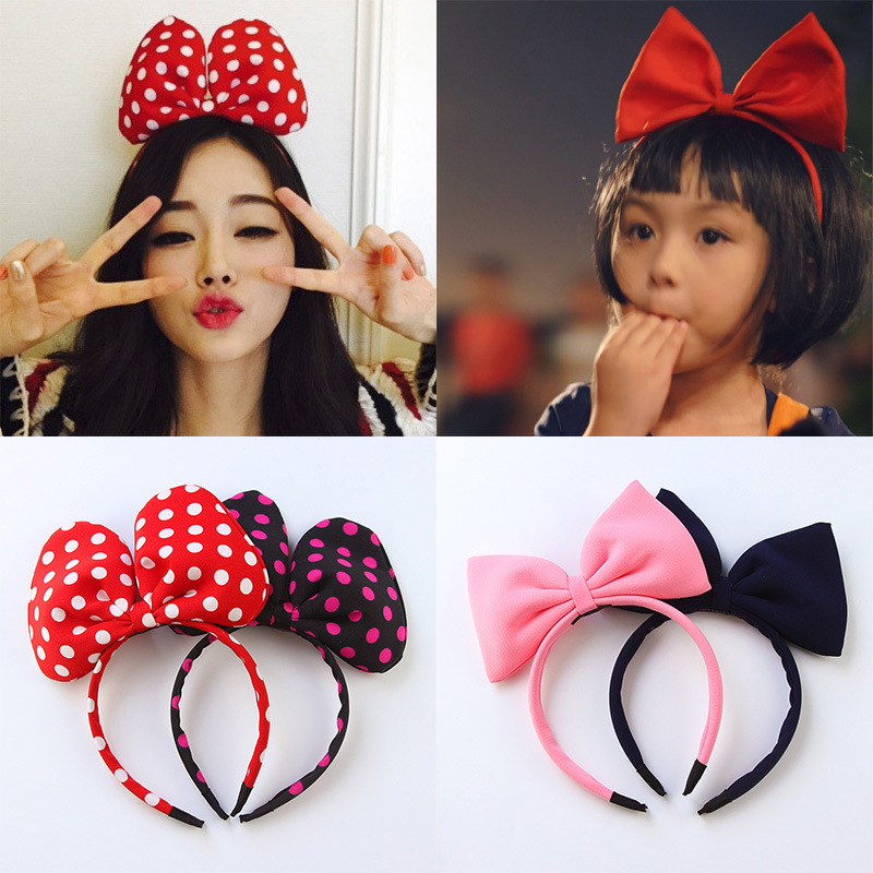 Children Bow Cute Hair Band Kids Hairbands Dot Baby Hair Bands Hair Accessories Baby Girl Headbands Festival Amusement Headdress