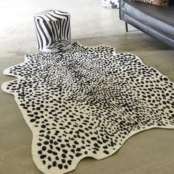 Tapis vache léopard grands tapis pour salon tapetes para sala de estar tapis fausse fourrure mode alfombra