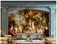 Home Improvement - Painting Supplies  - 3D Wall Murals Wallpaper Custom Picture Mural High-definition European Palace Retro Style Murals Wall Paper 3d Room Wallpaper