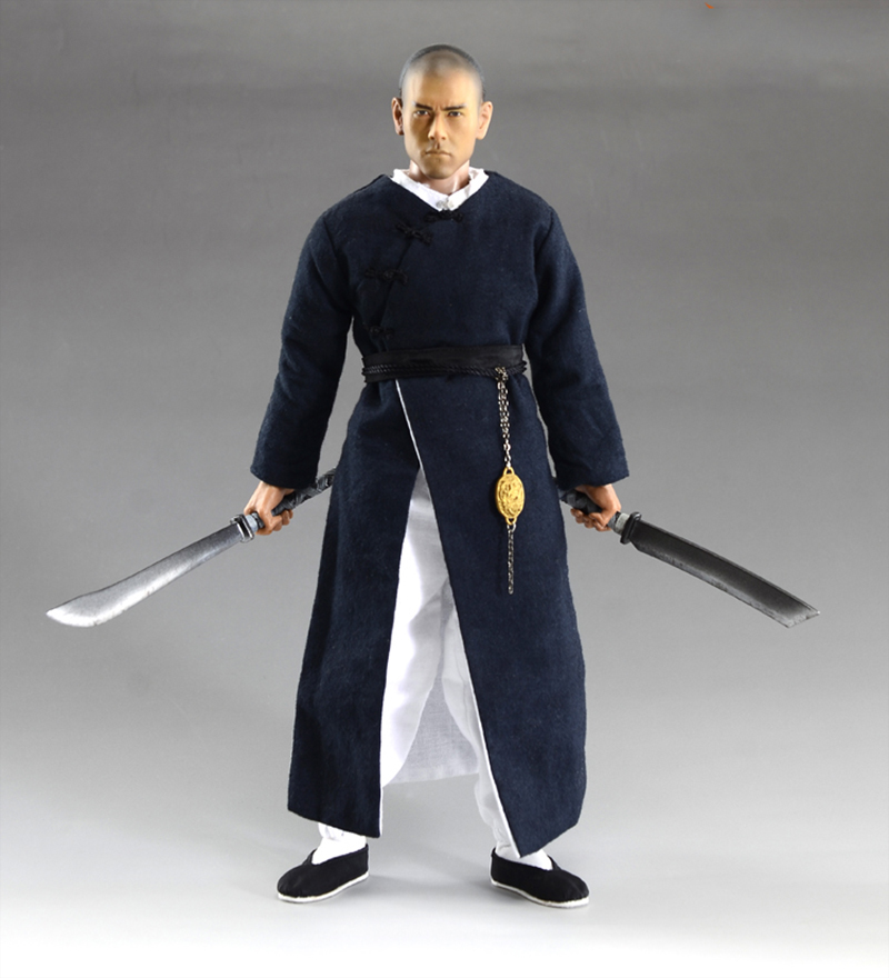 1/6 Scale 12 Inches The Rise of the Legend Wong Fei-hung Full Set Action Figures with Body Two Heads Clothes Accessories the rise of nine