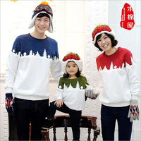 Matching Mother Daughter Clothes 2016 Winter Kids Christmas Trees Sweater Family Clothes Father Boys Sweater New