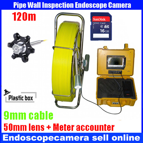 Bestwill 120m cable waterproof endoscope Sewer Pipe Wall Sewer Inspection Camera System with Cable accounter with DVR recorder 20m cable fiber glass 7 tft lcd waterproof pipe sewer inspection camera ccd600tvl with meter accounter endoscope snake camera