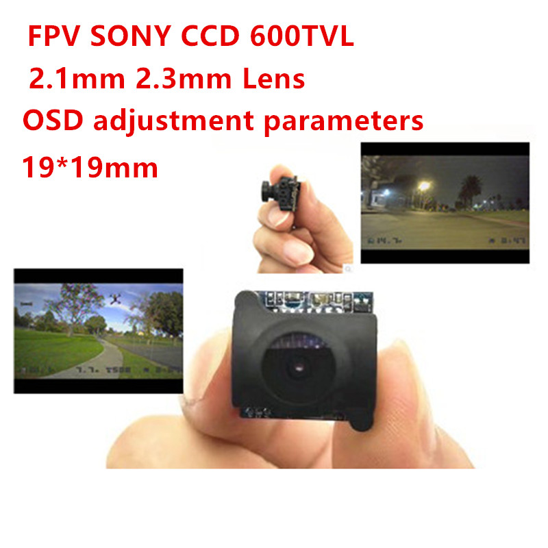 Sony CCD 600TVL Mini Camera 2.1mm 2.3mm Lens DC 5V to 36V 1/3