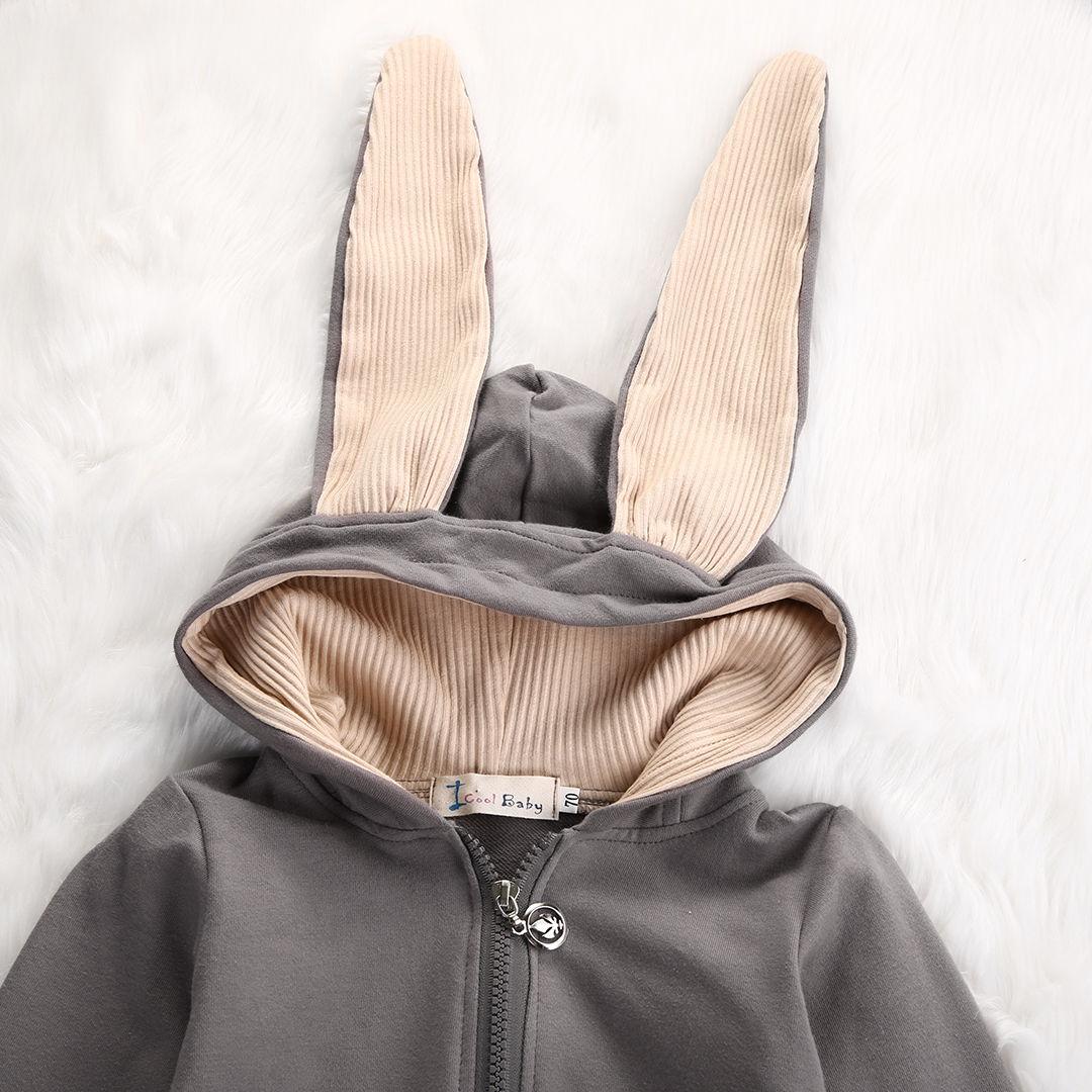 84da60d456cb New Infant Baby Boy Girl 3D Ear Cotton Romper Jumpsuit Babies Cute ...