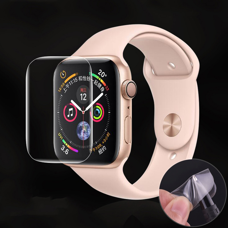 Screen Protector Clear Full Coverage Protective Film for iWatch 4 5 40MM 44MM Not Tempered Glass for Apple Watch 3 2 1 38MM 42MM 2