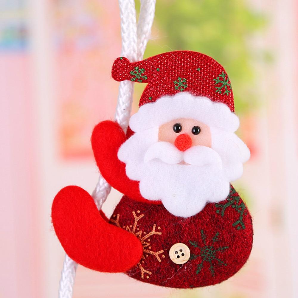 zljq 12pclot smile santa claus christmas tree ornaments funny climbing rope dolls pendant for xmas party decoration navidad 6d in pendant drop ornaments - Funny Christmas Tree Ornaments