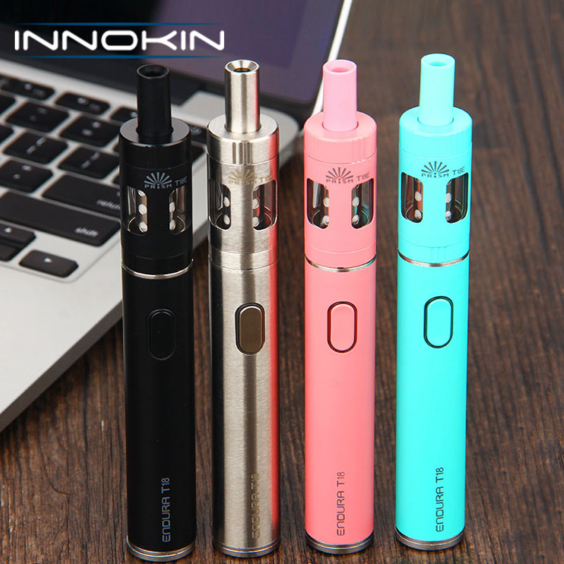 Original Innokin Endura T18E Vape Kit 1000mAh Battery 2ml Prism T18E Tank TPD 1.5ohm Coil Vaping Starter Kit vs Endura T18 Kit