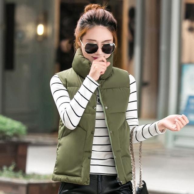 2016 Novas mulheres Outono/witner casaco colete outerwear coletes à prova de colete feminino inverno mulheres Sólida casuais jaqueta colete