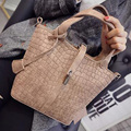 2017 Vintage Lady Quality PU Leather Bucket Bag Women's Serpentine Handbag Crossbody Small Shoulder Composite Bags With Lock