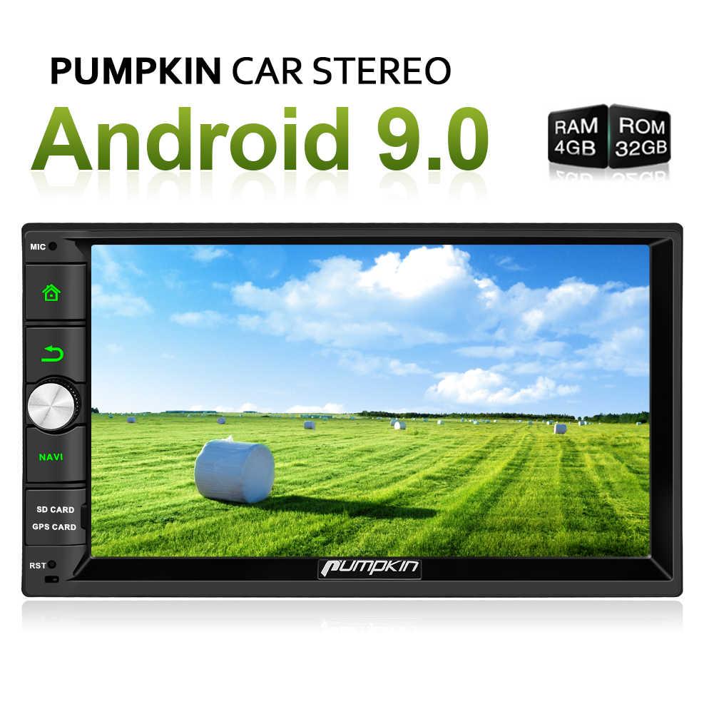"""カボチャ 4 ギガバイトの RAM 32 ギガバイト ROM 2 Din7 """"アンドロイド 9.0 ユニバーサルカーラジオ No DVD プレーヤー GPS ナビゲーションステレオ Wifi Bluetooth DAB + ヘッドユニット"""