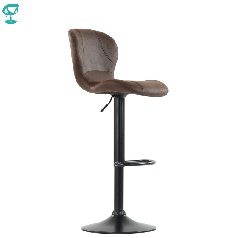 95561 Barneo N-86 VPU Leather Kitchen Breakfast Bar Stool Swivel Bar Chair Vintage Brown Color Black Leg Free Shipping In Russia