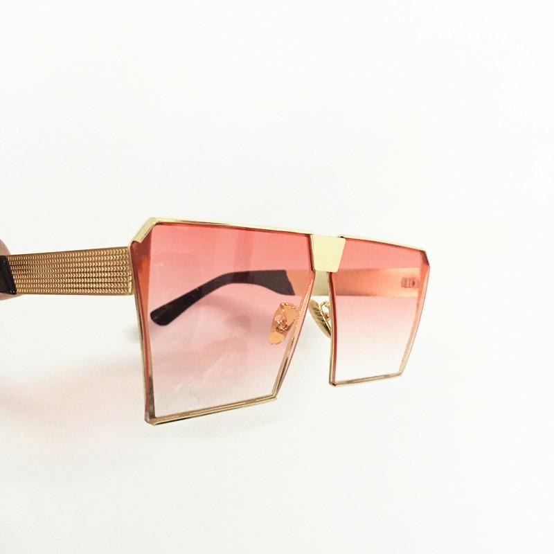 Cool 2017 New Square Hip Hop Fashion Brand Designer Sunglasses Men Women Mirror Sun glasses Lady Flat Oversized size Eyeglasses20