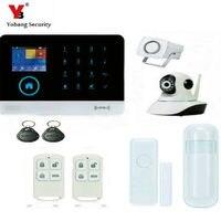 YobangSecurity 433mhz 3G Wifi WCDMA Alarm System Wireless Alarm System Kits With Video IP Camera App