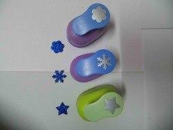3 piezas (2,5 cm) Flor, flor de nieve, forma de estrella de golpe arte Scrapbooking la escuela perforadora eva agujero golpe envío gratis