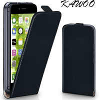 Pour iphone 7 Capa classique Clip magnétique Design Premium cuir Vertical Flip housse pour iphone 4 s 6 6 s 5 5 S SE 5C 6 plus 8 X