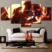 One Set Animation Poster 5 Pieces Piece Sabo And Fire Dragon Painting Modern Wall Art Home Decorative Canvas Print Picture