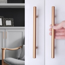 Handle Modern Minimalist Gold Wardrobe Cabinet Aluminum Alloy Door Nordic Black Long Drawer