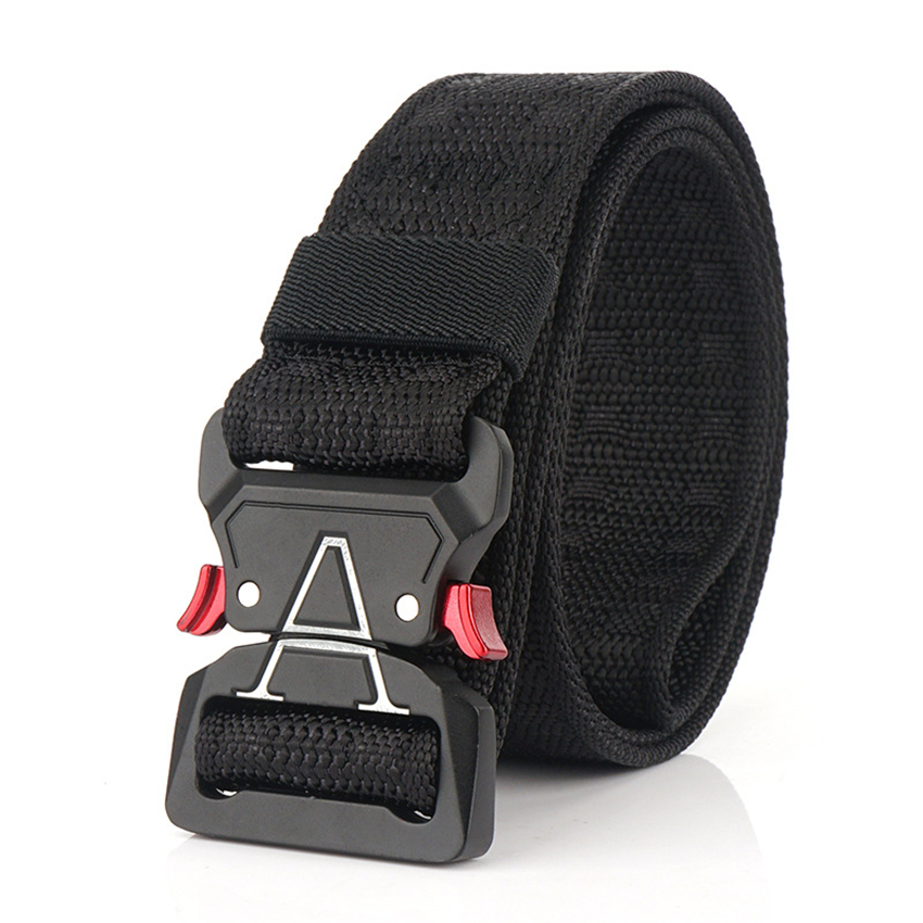 Luxury Canvas Belt Thick Tactical Designer Belts For Jeans High Quality Casual Nylon Waist Belt Metal Buckle Black Cobra Belt