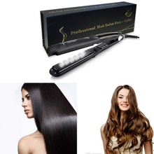 Sale Argan Oil Vapor System Hair Straightener Hair Salon SPA Steam Flat Iron Tourmaline Ceramic Fast Hair Straight Iron