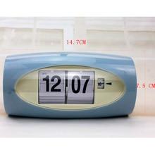 Big Number Digital Clock Auto 12 Hours AM/ PM Format Display Flip Page Turning Clocks