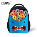 Children's Character School Bag Boys Big Mouth Bookbag for Kids Preschool Girls Kindergarten Bag Mini 12 Inch Child Schoolbag