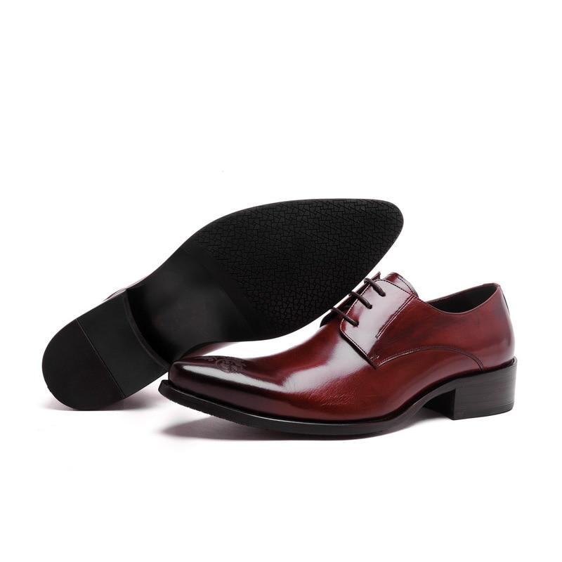 Mode Black Neue Hohe red Hochzeit Echte Spitze Grade Männer Carving Büro Spitz Schuhe Arbeit Kleid Wine Leder Design q1wrEZP1x