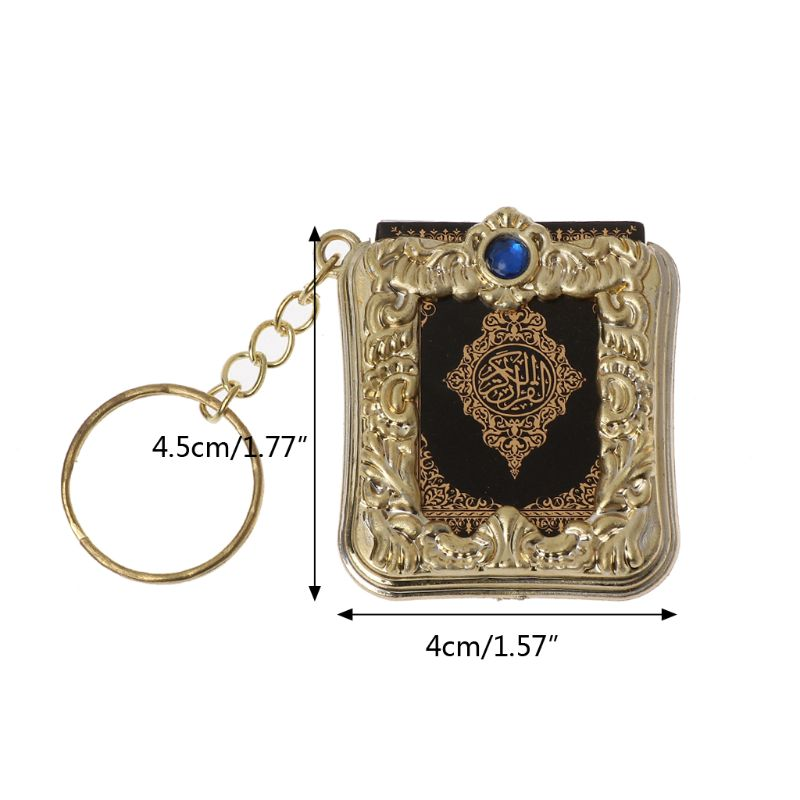 Image 5 - MenMini Ark Quran Book Real Paper Can Read Arabic The Koran Keychain Muslim Jewelry Gift SouvenirsKey Chains
