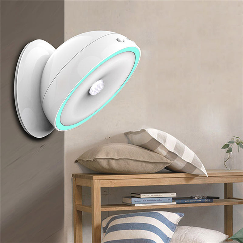 Sensor Light LED Bulb 360 Adjustable PIR Motion Sensor Night Light Wall Lamp Rechargeable Porch Drawer Attic Wardrobe Lighting