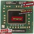 Shipping free AMD laptop Mobile A10 4600M A10-4600m original Socket FS1 CPU 4M Cache/2.3GHz/Quad-Core processor