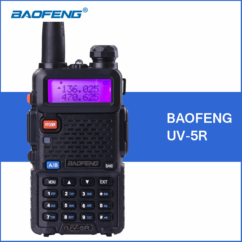 BAOFENG UV-5R Walkie Talkie VHF UHF Two Way Ham Radio Transceptor Portátil UV 5R UV5R Handheld Walkie Talkies 2-Way Communicator