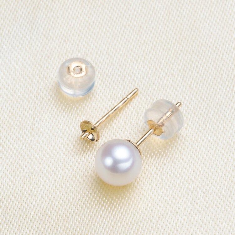 Genuine 18K Yellow Gold Earrings Findings and Component AU750 Jewelry Stud Earrings Women Nice Gift gold earrings for women