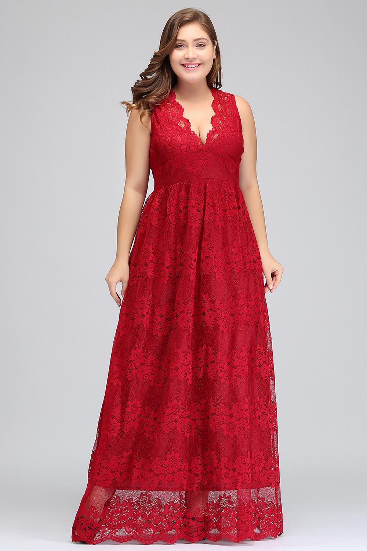 HTB1aoT8bDvI8KJjSspjq6AgjXXaZRed Lace Plus Size Evening Dresses