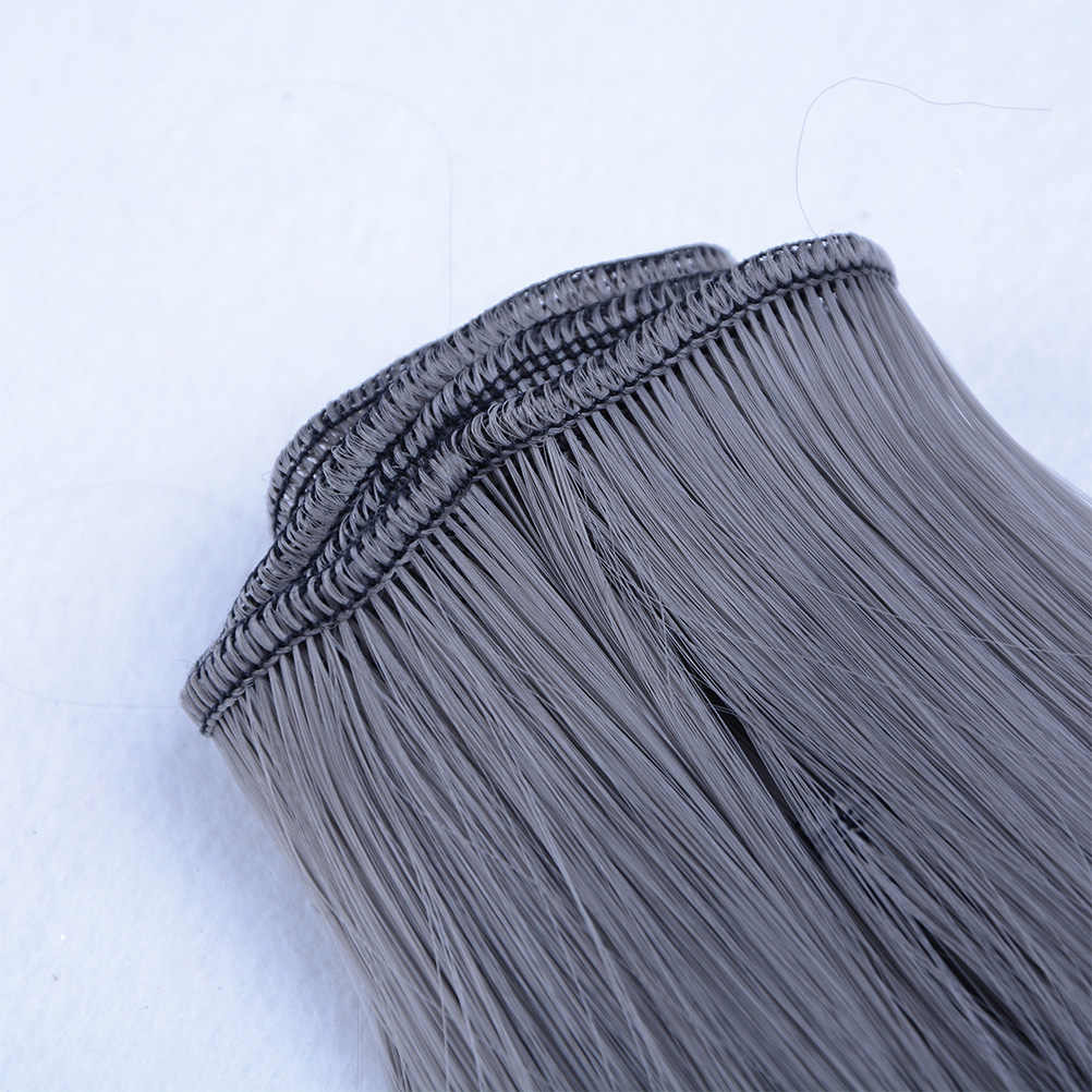 DIY кукла высокотемпературный провод длинные прямые волосы парик 1/3 1/4 1/6 BJD волосы черный розовый коричневый хаки белый серый цвет 15 см x 100 см