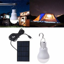 Solar Light 15W 130LM Solar Lamp Portable Bulb Light Solar Energy Lamp Led Lighting Solar Panel Camp Tent Fishing Light