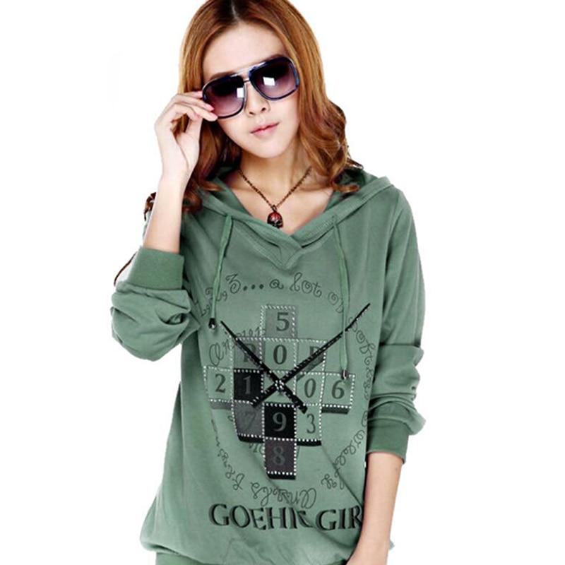 2015 Autumn Loose Hooded Hedging Sweatshirts M-4XL Plus Sizes