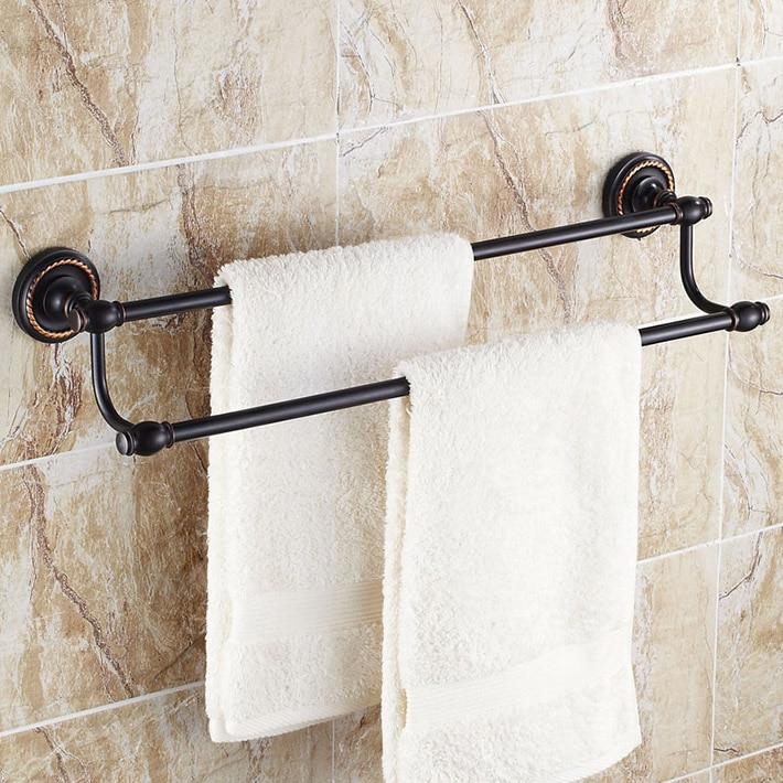 Bathroom accessories elegance wall mounted double towel - Bathroom accessories towel racks ...