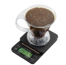 Free Shipping Mini Digital Electronic Coffee Scale with Timer A/B
