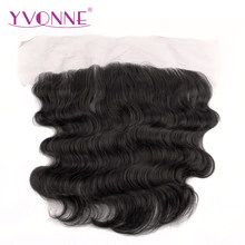 YVONNE Brazilian Body Wave Lace Frontal 13x4 Virgin Hair With Baby Hair Natural Color 100% Human Hair Products(China)